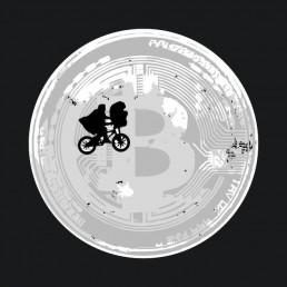 ET Moon Bitcoin BTC T-Shirt Logo