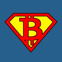 SuperBTC Bitcoin T-Shirt Logo